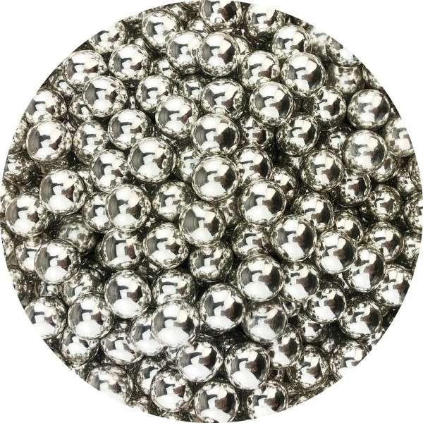 Chocoballs Silber groß 130g Größe ca.9-10mm