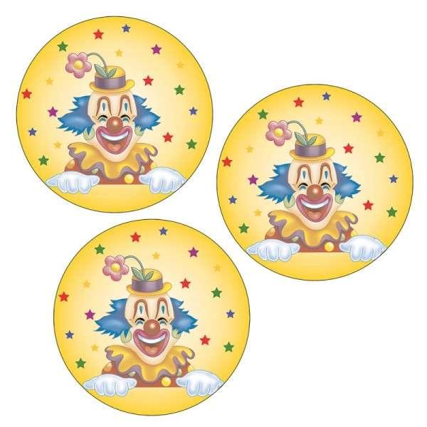 """25 Esspapieraufleger """"Clown"""""""