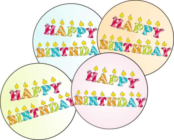"""esspapieraufleger geburtstag """"happy birthday"""" 4cm"""