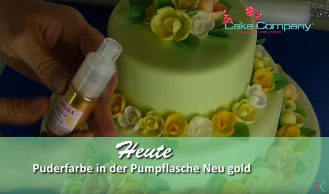 Glitzerpuder NEU-Gold AF 10 g Puder in der Pumpflasche