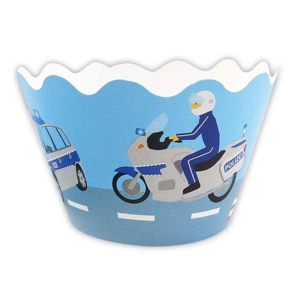 Cupcake Banderole Polizei 12 Deko Banderolen