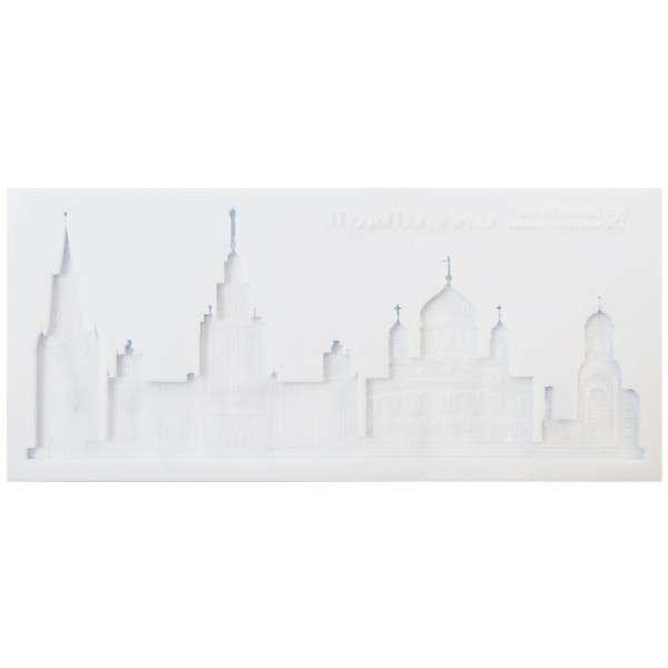 Silikonform Skyline Moskau ca. 21 x 9,5 x 1 cm