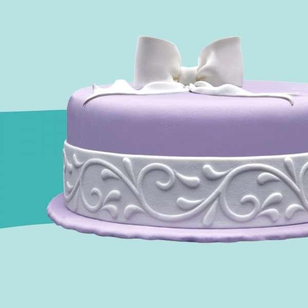 Fondantrand Ranke breit auf Torte