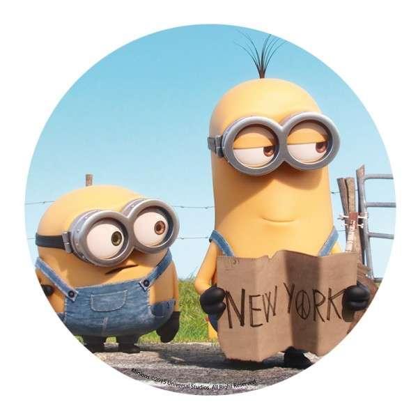"Esspapieraufleger Minions ""Motiv A: New York"" 20cm"