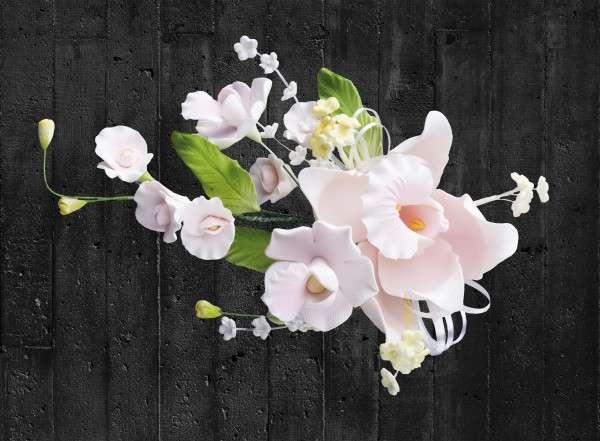 Zuckerblumenbouquet Orchideen Pink