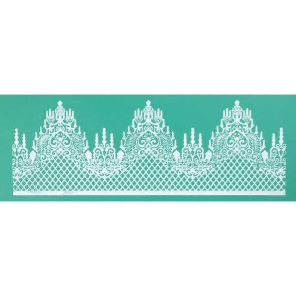 Pavoni Magic Decor Silikonmatte für essbare Spitze Einzelbordüre Kronleuchter
