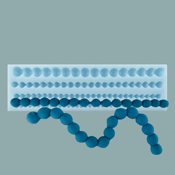 Silikonform Perlenschnur