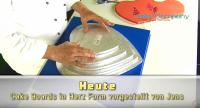 Tortenplatte Herz ca.400mm Cake Board silber ca.10mm dick