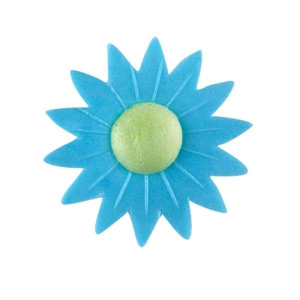 Esspapier Margerite blau 45mm 12Stck