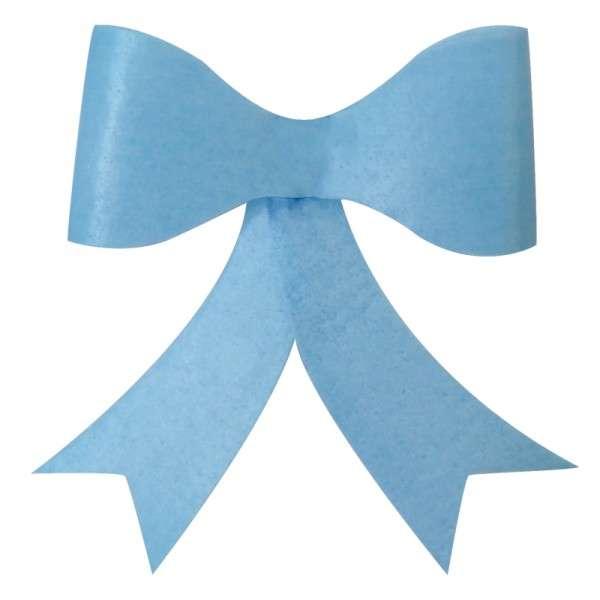 Schleifen Esspapier Baby blau ca.60mm 12 Stck