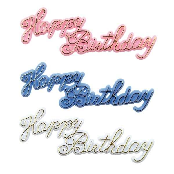 Happy Birthday Schriftzug, 6 Stück