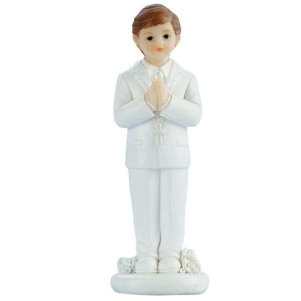 Tortenfigur Kommunionjunge weißer Anzug stehend ca.100mm