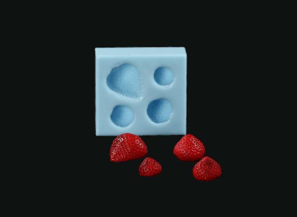 Silikonform Erdbeeren
