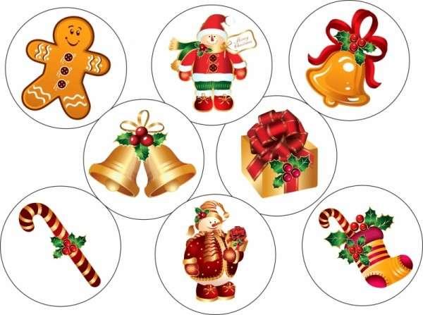 """Esspapieraufleger """"Weihnachtssortiment klassisch"""" 4cm"""