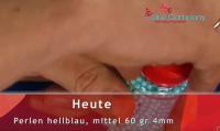 Zuckerperlen Hellblau 4mm 60g