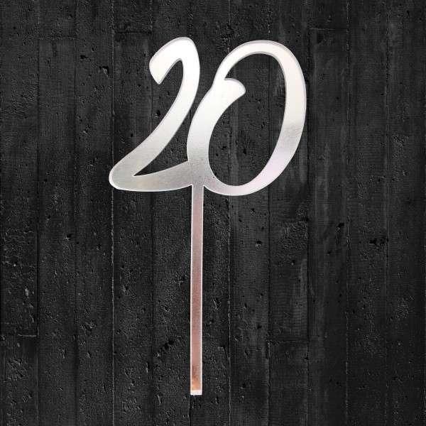 Cake-Topper 20 Spiegel