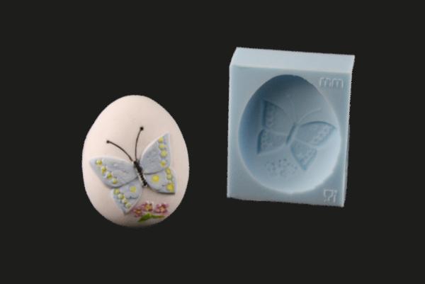 Silikonform Osterei mit Schmetterling