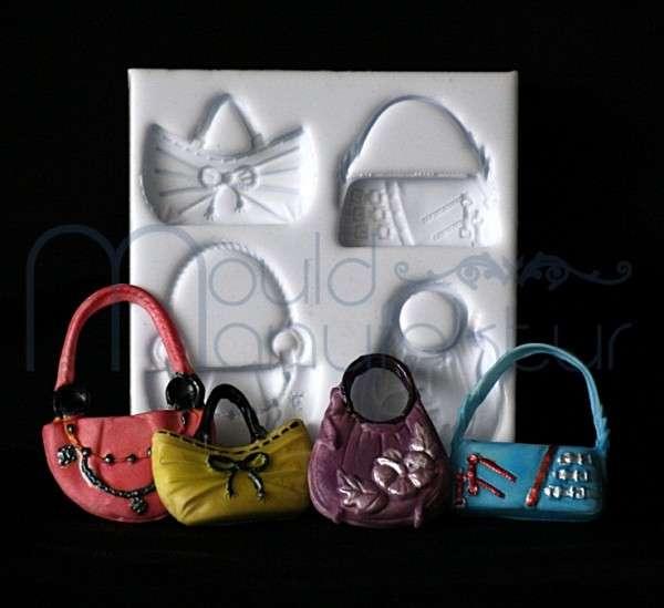 Silikonform Handtasche