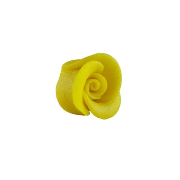 Marzipanrose, gelb, mittelgroß 35mm 24Stck