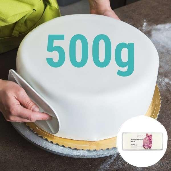 Weißer Fondant - Rollfondant weiß 500 g