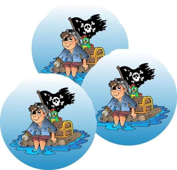 Tortenaufleger Pirat lustig 40mm 12 Stck