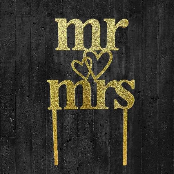 Cake-Topper Mr & Mrs