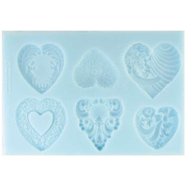Silikonform Herzen ca. 16,2 x 11 x 1,1 cm