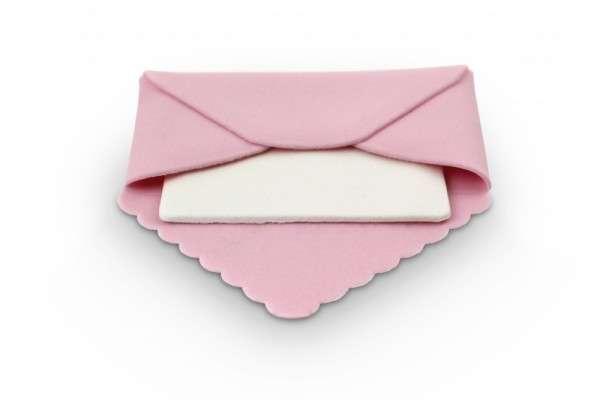 Zuckerdekoration Briefumschlag rosa, ca.90 x 90 x 5mm