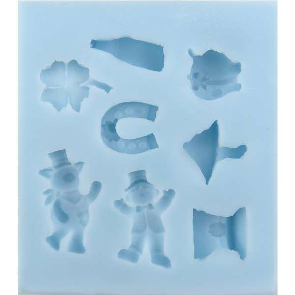 Silikonform Sylvester ca. 10 x 11,5 x 1,7 cm