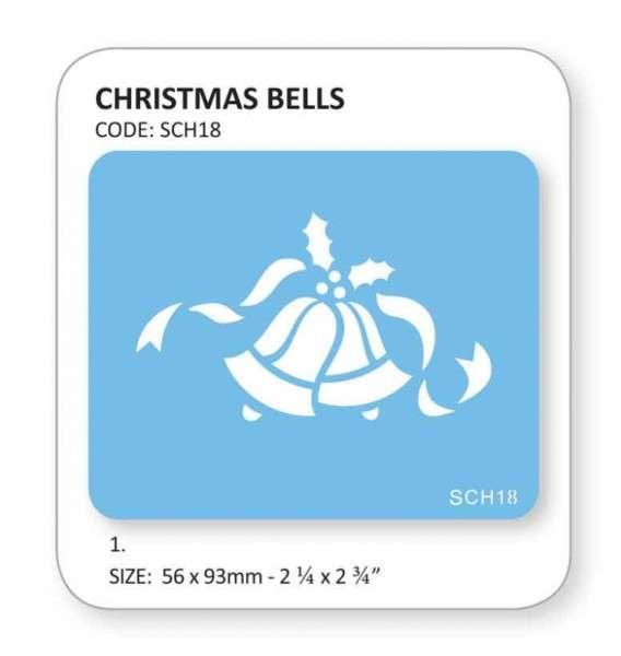 """Schablone """"Weihnachtsglocken"""" 56×93 mm"""