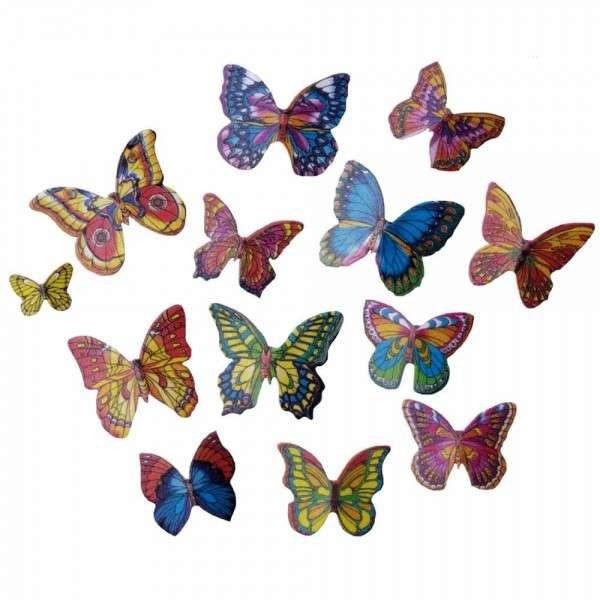Schmetterlinge, 25 Stück in 3 Größen