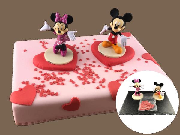 Tortendekoration Micky und Minnie Maus
