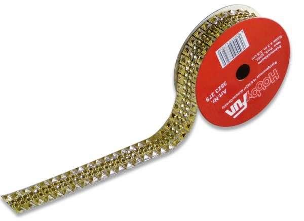 Schmuckborte New York gold 25mm Rolle 3m