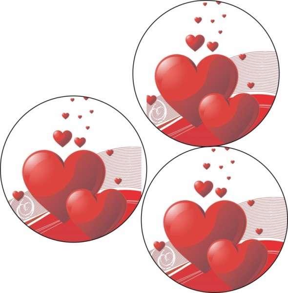 """Esspapieraufleger Herzen """"Ich liebe dich!"""" 4cm"""