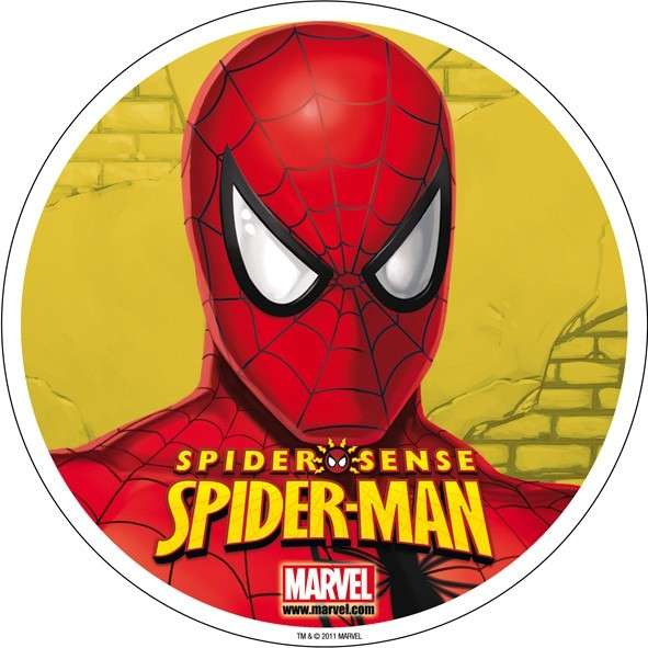 """Esspapieraufleger Spiderman """"Motiv D: Spiderman's Kopf"""" 20cm"""