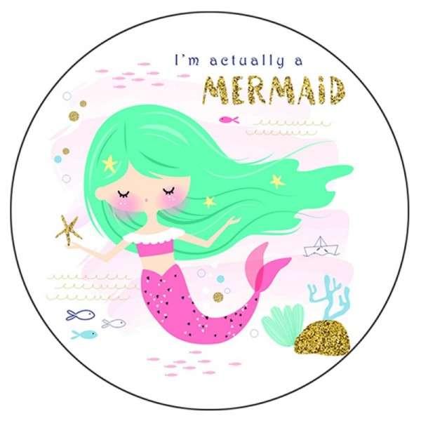 Tortenaufleger Mermaid Türkis 10 cm