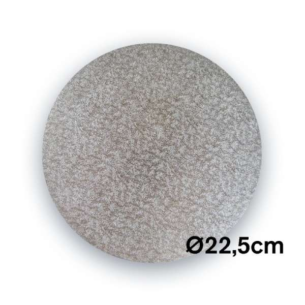 Tortenplatte 225 mm Ø Cake Drum silber ca.3mm dick