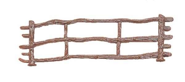 Brauner Zaun, 6 Stück