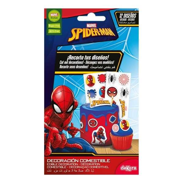 Zuckeraufleger Spiderman klein 3,4 cm 16 Stück