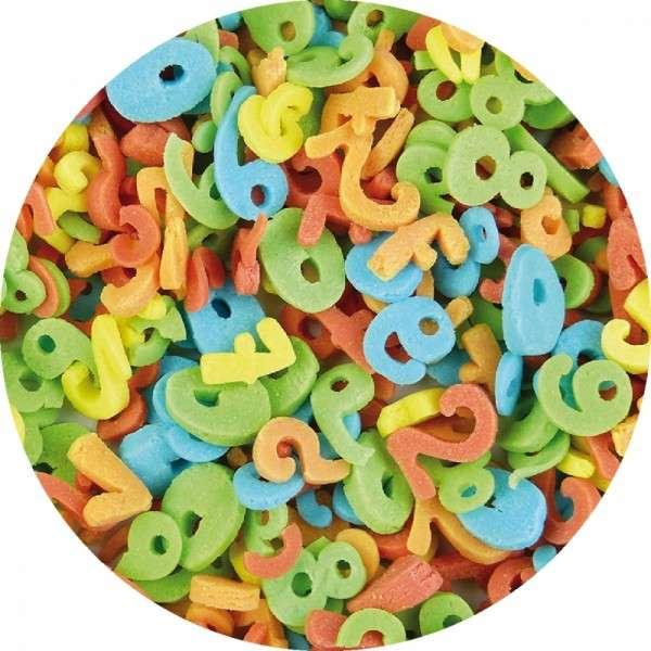 Zuckerkonfetti Zahlen bunt 1-9 90g