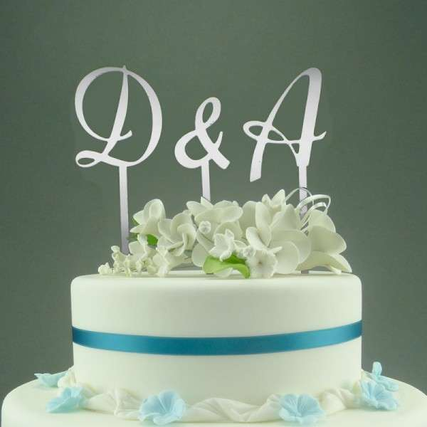 "Cake-Topper ""&"" Lettering, verspiegelt"
