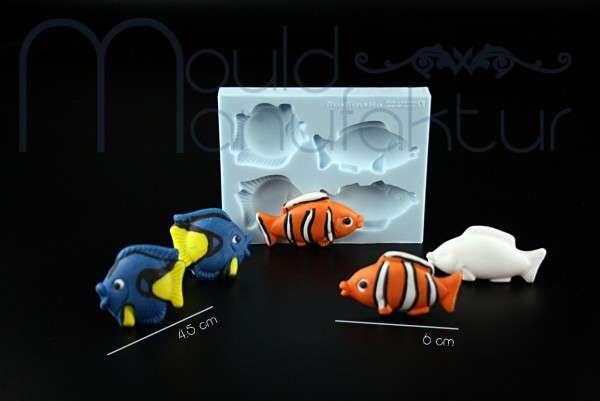 Silikonform Fische