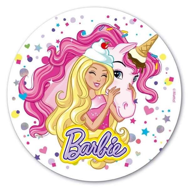 Esspapieraufleger Barbie 20cm 1 Stück