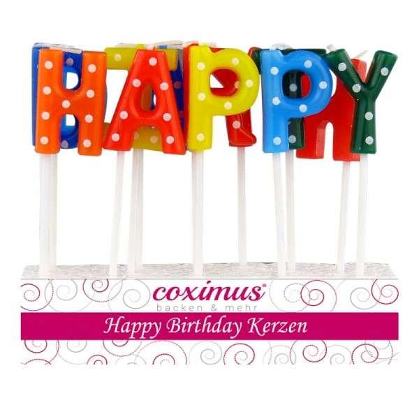 Tortendekoration Kerzen Happy Birthday Motivtorten Dekoration