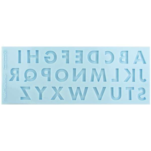 Silikonform Buchstaben Standard