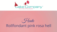 Farbiger Fondant rosa 4 x 250 g