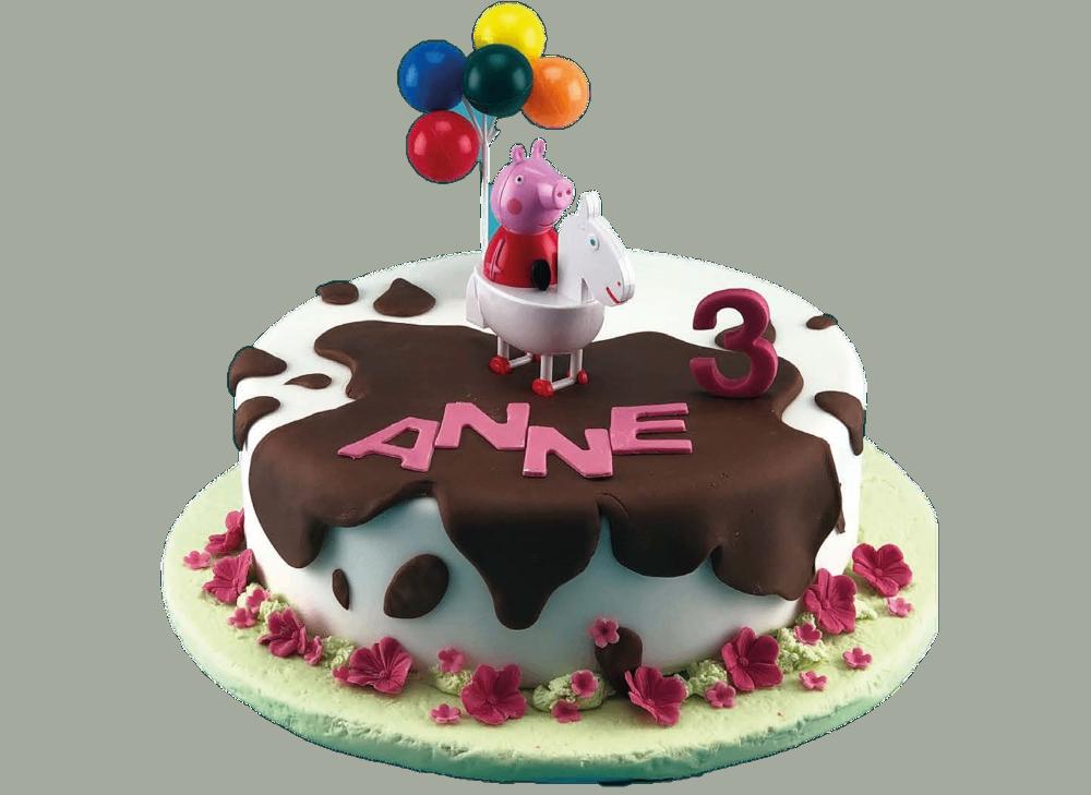 Dekora 236033 f/ür Peppa Pig Fans Essbare Kuchen Cupcake Dekorationen 12 St/ück