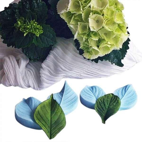 """Veiner """"Hortensie Blatt S+M"""" ca.5,1 +8,1 cm (Hydragea,Heart shape leaf S+M)"""