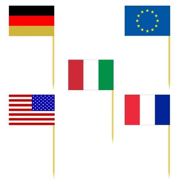 """Papierfahnen Fußball """"Europa"""""""