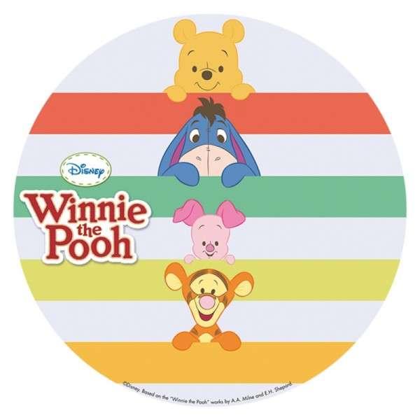 """Esspapieraufleger Winnie Pooh """"Motiv B: Winnie Pooh und Freunde"""" 20cm"""